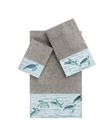 Mia 3-Pc. Embroidered Turkish Cotton Towel Set