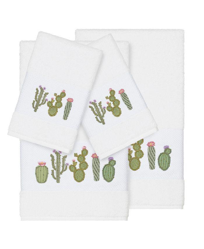Linum Home - Mila 4-Pc. Embroidered Turkish Cotton Bath and Hand Towel Set