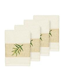 Zoe 4-Pc. Embroidered Turkish Cotton Washcloth Set