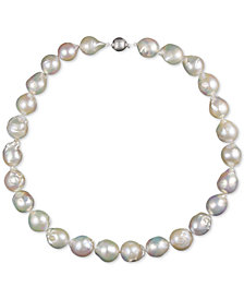 """Cultured Baroque Freshwater Pearl (13-15mm) 18"""" Collar Necklace"""