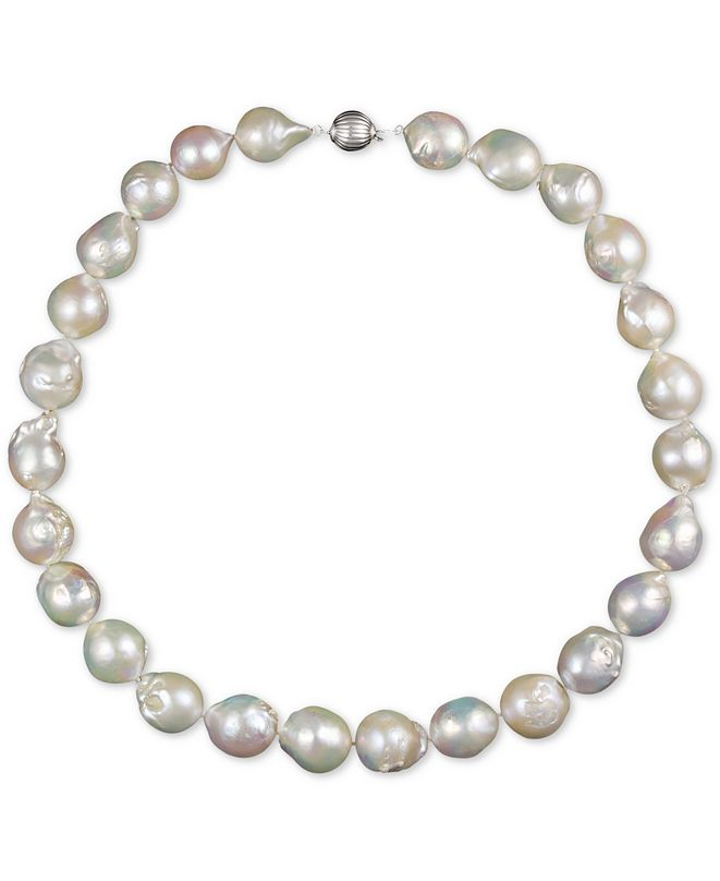 """Macy's Cultured Baroque Freshwater Pearl (13-15mm) 18"""" Collar Necklace"""