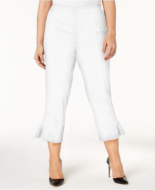 a21ccf5b8958b INC International Concepts I.N.C. Plus Size Ruffled Cropped Pants ...