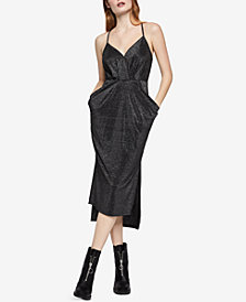 BCBGeneration Metallic Midi Dress