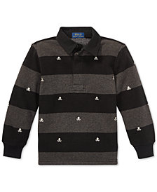 Polo Ralph Lauren Little Boys Lightweight Fleece Rugby Shirt