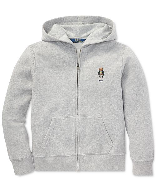 7de0c779e Polo Ralph Lauren Big Boys Polo Bear Fleece Hoodie   Reviews ...