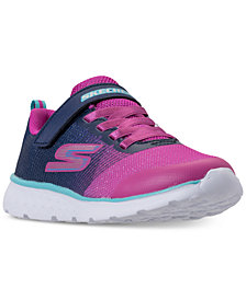 Skechers Little Girls' GoRun 400 - Sparkle Zooms Adjustable Strap Running Sneakers from Finish Line