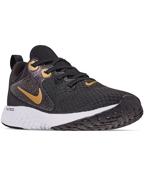 63df4b1859991e Nike Girls  Legend React Reflective Running Sneakers from Finish ...