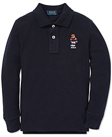Polo Ralph Lauren Little Boys Polo Bear Long-Sleeve Cotton Polo