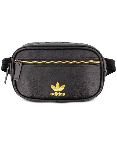 cbfad88130 adidas Faux-Leather Waist Pack   Reviews - Women s Brands - Women ...
