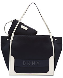 DKNY Ebony Tote with Pouch, Created for Macy's