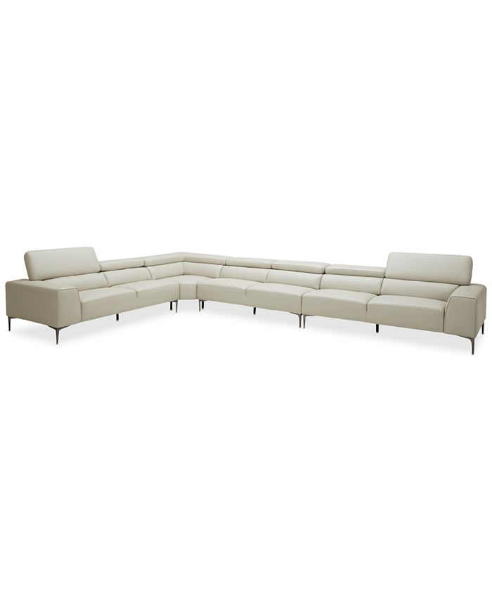 """Furniture - Mossley 196"""" 4-Pc. """"L"""" Sectional"""