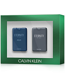 Receive a Complimentary 2-Pc. Calvin Klein Eternity Coffret Set with any large spray purchase from the Calvin Klein Men's Fragrance Collection