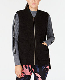 Calvin Klein Performance Fleece High-Low Hem Vest