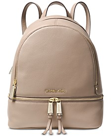 Rhea Zip Small Pebble Leather Backpack