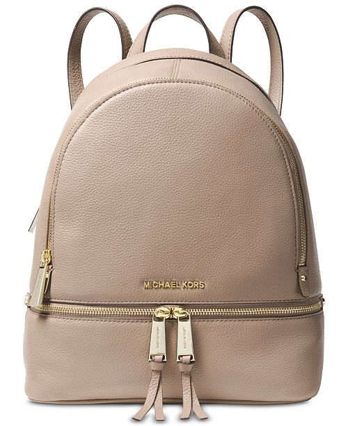 2fd6f3e84205 Michael Kors Rhea Zip Small Pebble Leather Backpack   Reviews ...