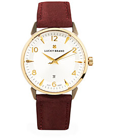 Lucky Brand Women's Torrey Berry Leather Strap Watch 34mm
