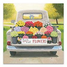 Beautiful Country Iii Hand Embellished Canvas