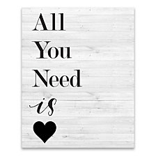 All You Need Is Love Iii Printed Canvas