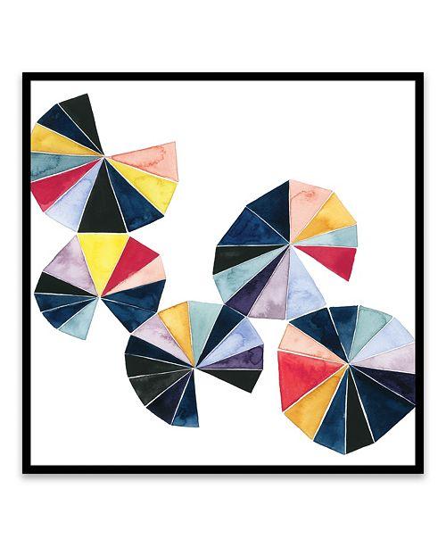 "Artissimo Designs Pinwheel Bright Ii Framed Printed Canvas Art - 20.875"" W x 20.875"" H x 2"" D"