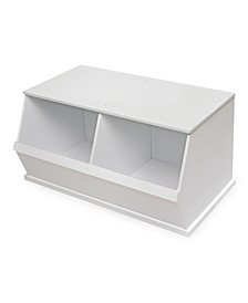 Two Bin Stackable Storage Cubby