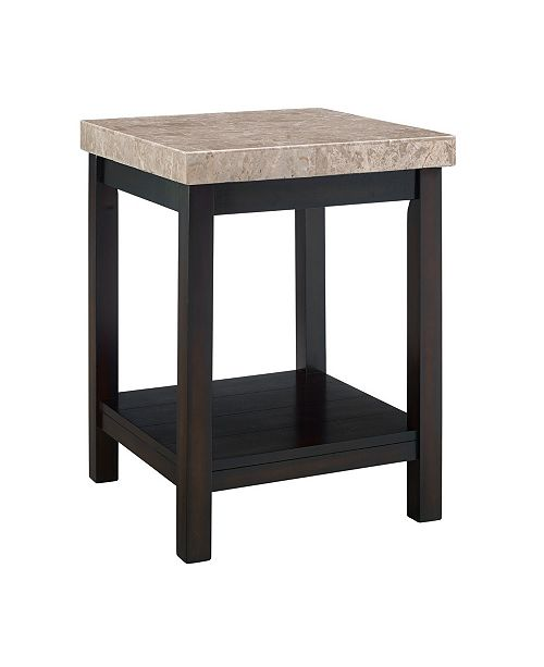 Picket House Furnishings Caleb End Table with Marble Top