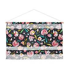 "Ninola Design Coral Peonies Festival Floral Wall Hanging Landscape, 47""x34"""