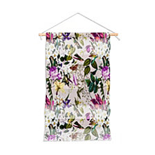 "Deny Designs Marta Barragan Camarasa Bouquets And Hummingbirds Wall Hanging Portrait, 22""x32"""