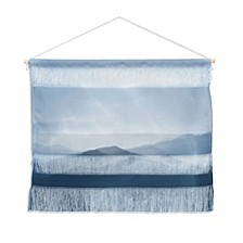"Ingrid Beddoes Hazy Morning Blues Wall Hanging Landscape, 22""x16"""