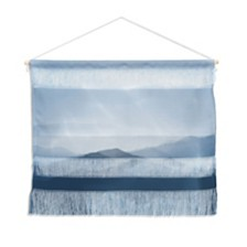 "Deny Designs Ingrid Beddoes Hazy Morning Blues Wall Hanging Landscape, 22""x16"""