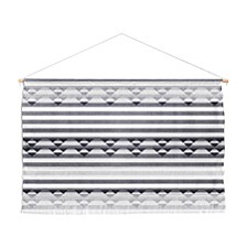 "Holli Zollinger Linen Stripe Wall Hanging Landscape, 47""x34"""