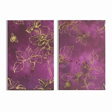 Graham & Brown Mulberry Trail Printed Canvas, Set of 2