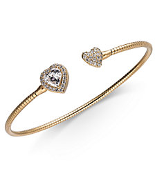 Danori Crystal Heart Cuff Bracelet, Created for Macy's