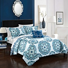 Madrid 8 Piece Full/Queen Bed in a Bag Quilt Set