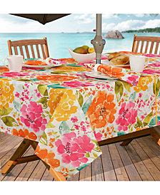 """Elrene Evelyn Indoor/Outdoor 60"""" x 84"""" Umbrella Zip Tablecloth"""
