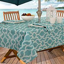 """Elrene Sydney Indoor/Outdoor 60"""" x 84"""" Umbrella Zip Tablecloth"""