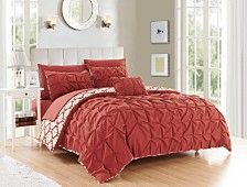 Chic Home Zissel 8 Pc Duvet Set Collection