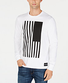 Calvin Klein Jeans Men's Long-Sleeve Flag Graphic T-Shirt