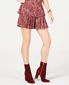 MICHAEL Michael Kors Swirl Wave Pleated Shorts, Created for Macy's, in Regular and Petite Sizes