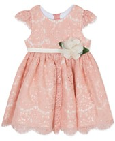 6965ff8bca54 Rare Editions Baby Girls Sequin Lace Fit   Flare Dress
