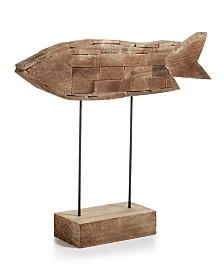 Home Essentials Coastal Weathered Fish On Stand Figurine