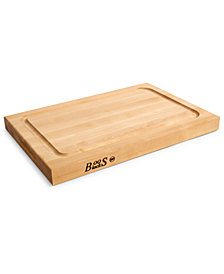 "John Boos Hard Rock Maple BBQ 18"" x 12"" Cutting Board"
