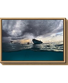 The boat by Andrey Narchuk Canvas Framed Art