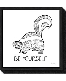 Color the Forest X Be Yourself by Elyse Deneige Canvas Framed Art