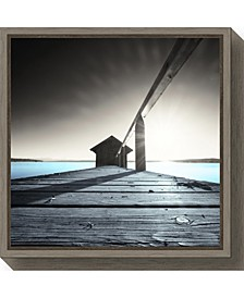 Old Boathouse by Anon Canvas Framed Art