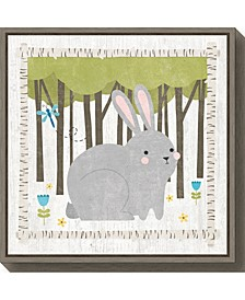 Woodland Hideaway Bunny by Moira Hershey Canvas Framed Art
