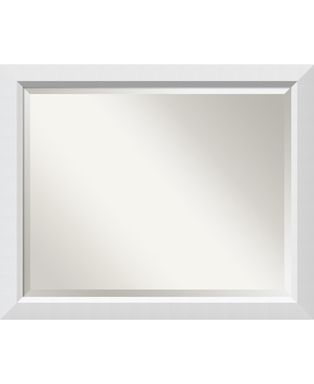 Amanti Art Blanco 32x26 Bathroom Mirror