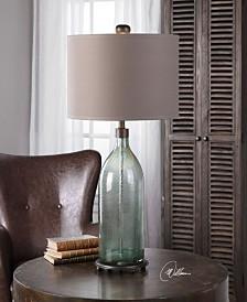 Uttermost Massana Gray Glass Table Lamp