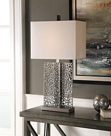 Sicero Polished Silver Lamp