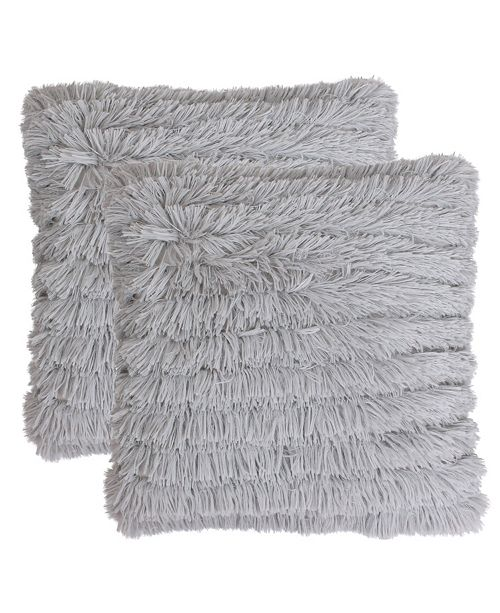 5c7071b855553 Effie Faux Fur Long Pile Pillow Set of 2. Be the first to Write a Review.  main image