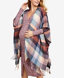 Maternity Fringed Kimono Blouse
